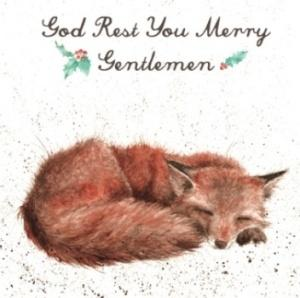 Wrendale Designs God Rest You Merry Gentlemen Christmas Card