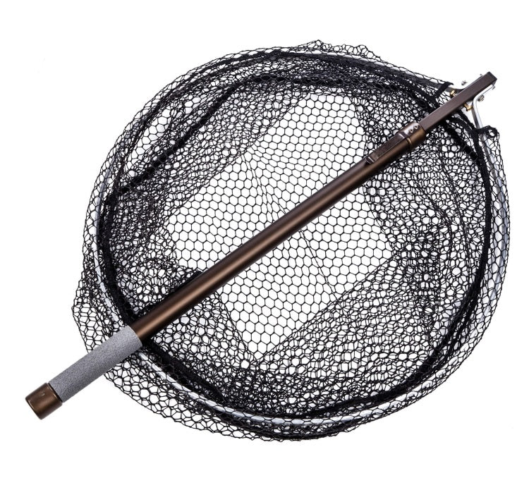 McLean Folding Round Head 20in Net with Telescopic Handle and Rubber Mesh