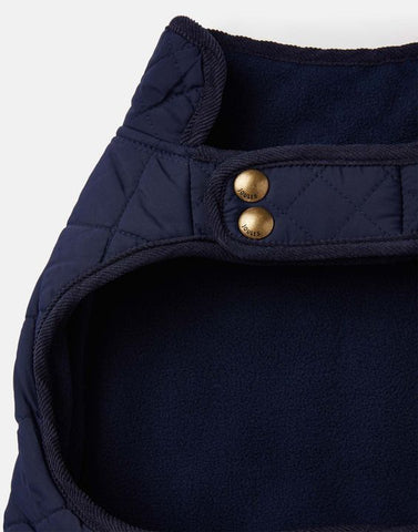 Joules Quilted Dog Coat - Navy
