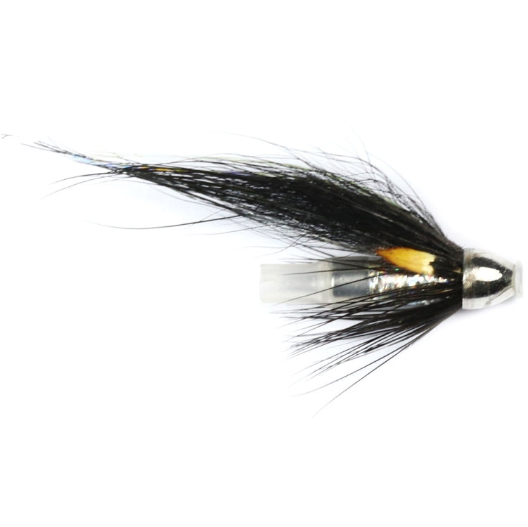 Silver Stoats Tail Crimp Tube Conehead Flies