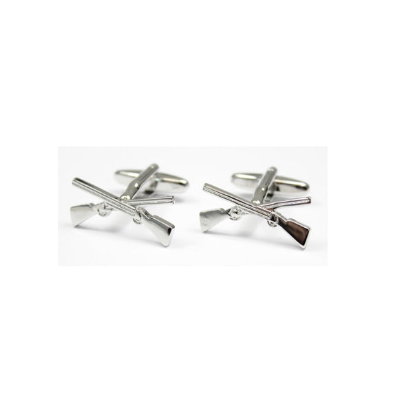John Norris Country Cufflinks - Crossed Shotgun
