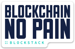 Blockchain No Pain sticker