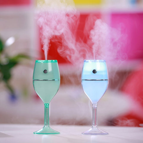 VERRE A VIN LED- USB Humidificateur d'Air / Transportable AIR humidifier