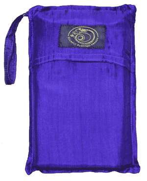 dark blue sleeping bag