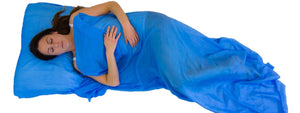Baby blue Soundly Sleeping Dragon silk sleeping bag liner