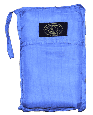 light blue silk sleeping bag