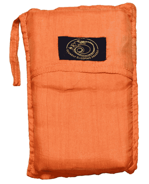 orange silk sleeping bag