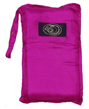 pink silk sleeping bag