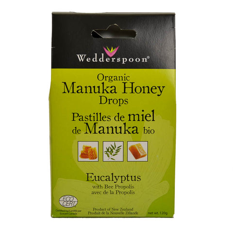 Manuka Honey Drops - Eucalyptus - Organic
