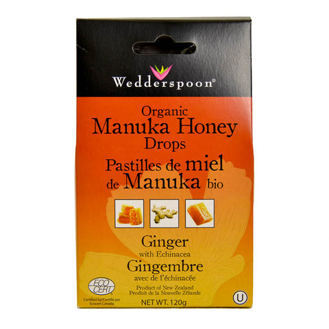 Manuka Honey Drops - Ginger - Organic