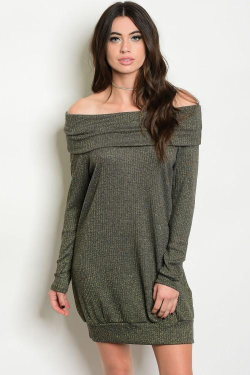 Shimmery Dream Off Shoulder Dress