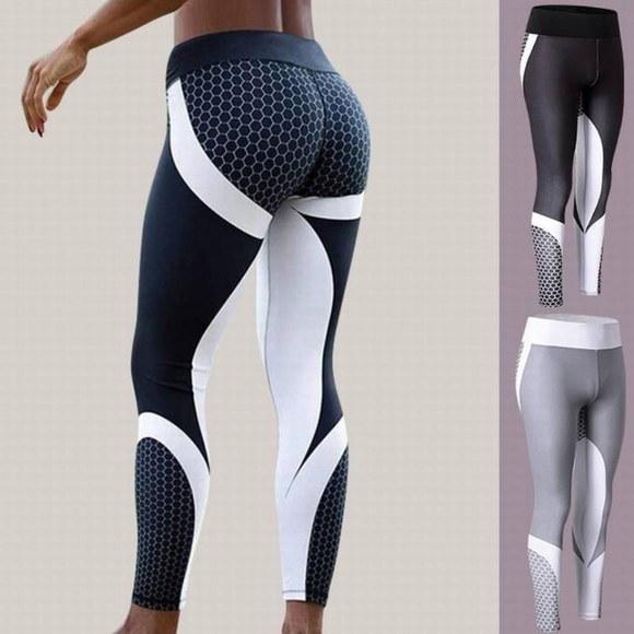 Femmes Yoga Pantalon de sport Compression Fitness  Push-up  Running Gym Jogging Pantalon de yoga