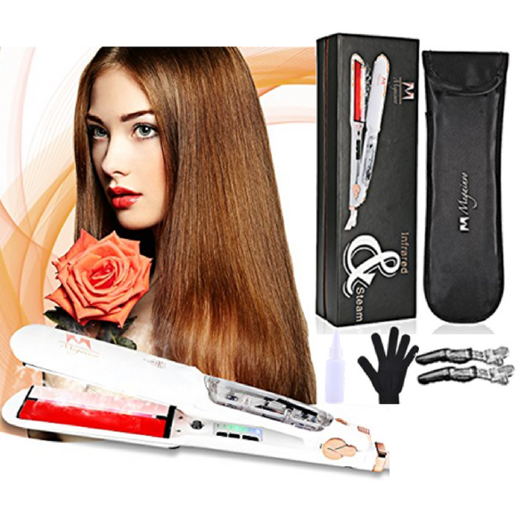 Steam Brush, Lisseur à Vapeur, Lisseur à Vapeur Professionnel, STEAM HAIR Straightener, Professional Steam Straightener