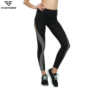 Noctilucent Fitness Legging gym yoga pantalon de courseTaille Élastique sans couture