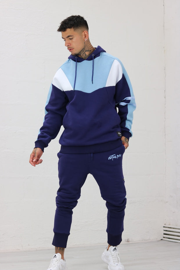 Navy & Baby Blue Utility JOGGER'S