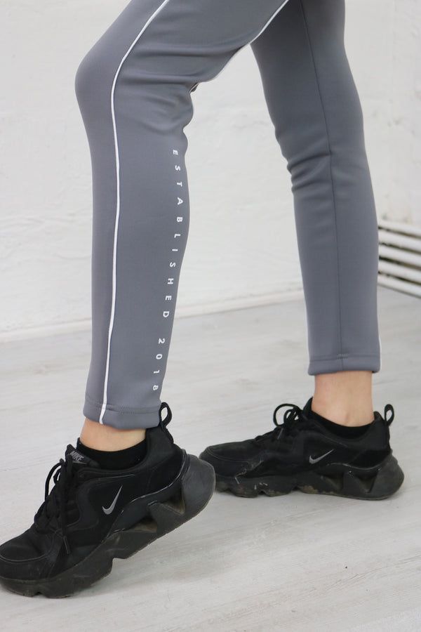 Grey High Waisted Scuba Bottoms