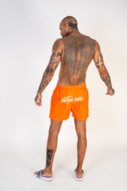 Tiger Orange Swim Shorts