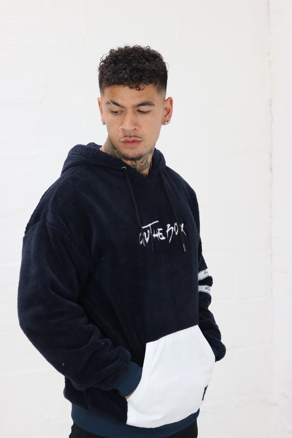 Navy Teddy fleece