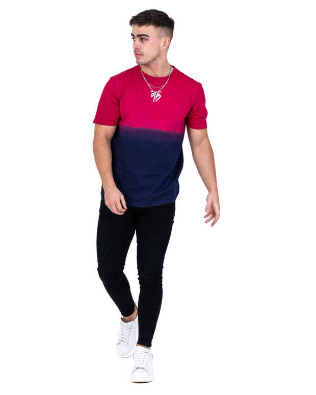 Faded Switch Tee Navy to pink