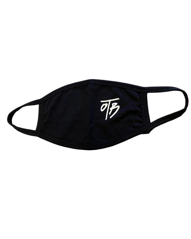 COVID - Face Mask - Black - White logo