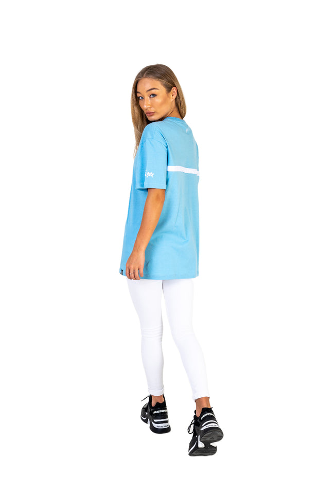 Women's Baby Blue Oversized Tee