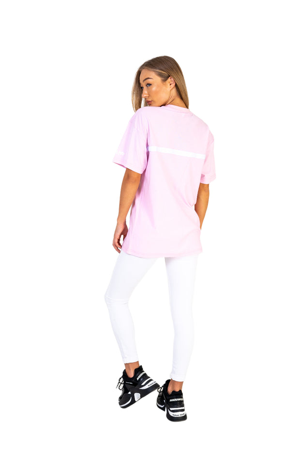Women's Salmon Pink Oversized Tee