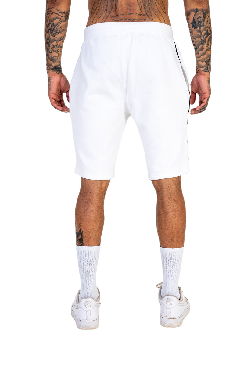 Ice White Pin Stripe Shorts