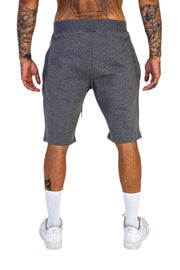 Charcoal Grey Pin Stripe Shorts