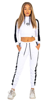 Ice White Poly Cruise Joggers