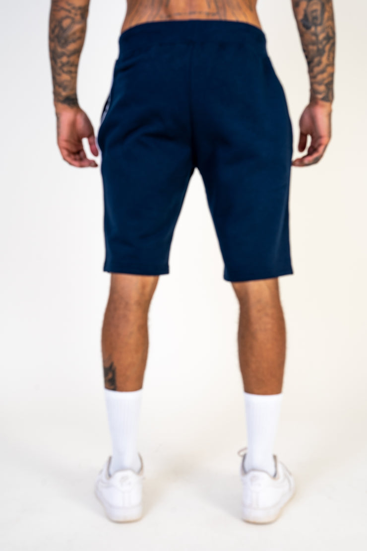 Navy Pin Stripe Shorts