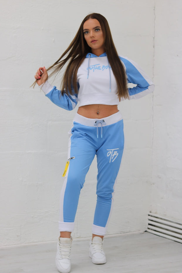 Poly Cropped Reverse Tracksuit Hoodie