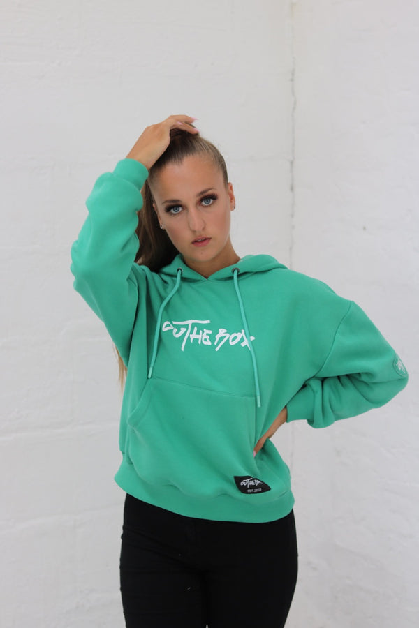 Ladies Core Green Hoodie