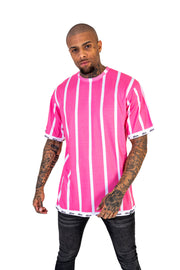 Flamingo Pink Stripe Tee