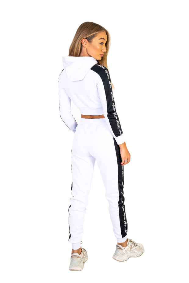 Ice White Poly Cruise Cropped Hoodie