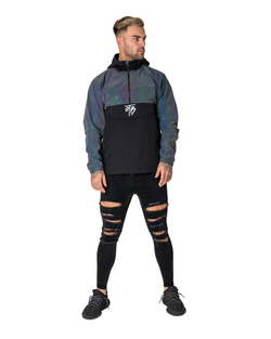 Irridecent Overhead Windbreaker