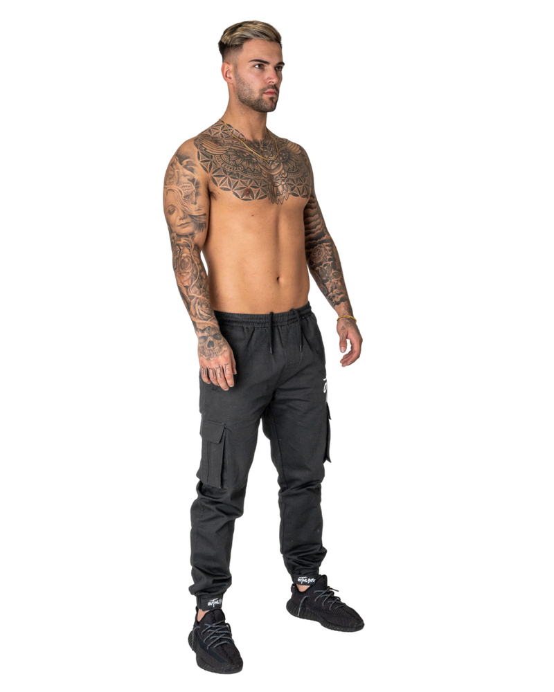 Damage Grey Cargo Trousers
