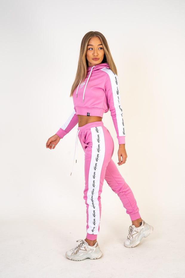 Flamingo Pink Poly Cruise Joggers