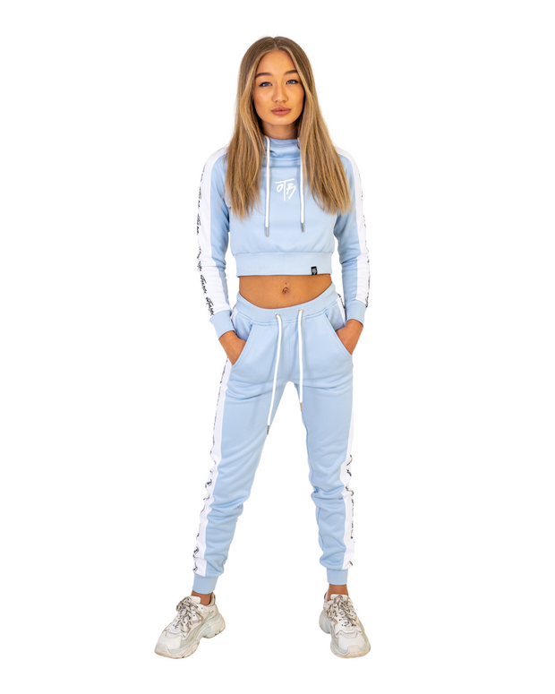 Baby Blue Cruise Cropped Hoodie