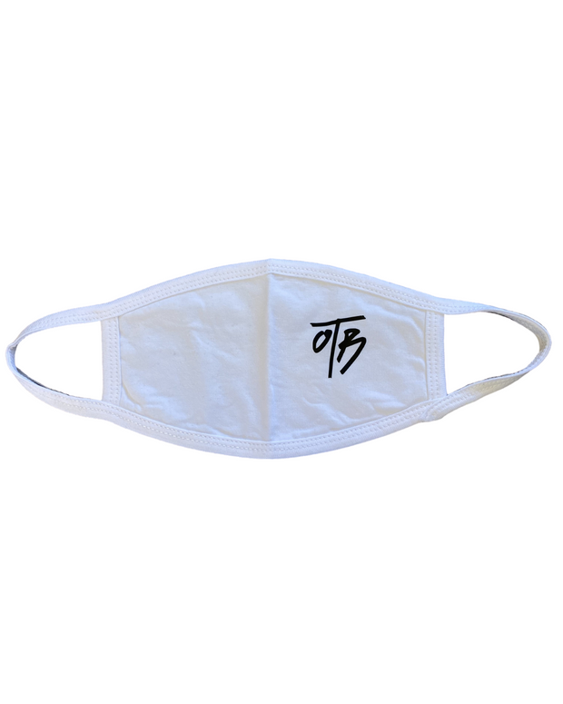 COVID - Face Mask - White - Black logo