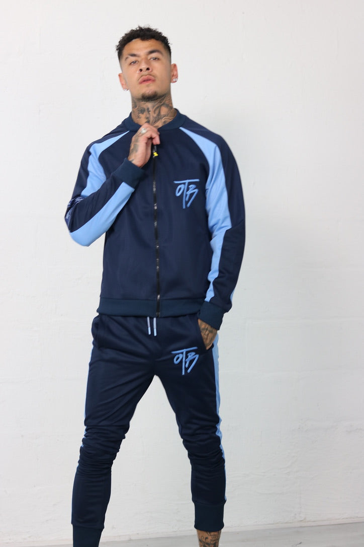 Navy Retro Track Jacket