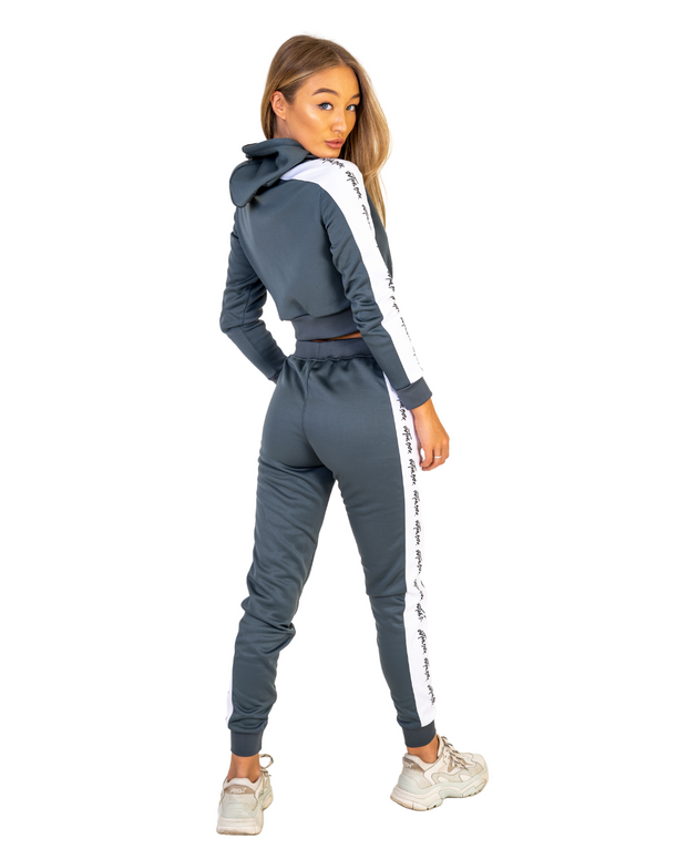 Graphite Grey Cruise Cropped Hoodie