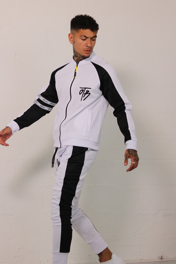 White Retro Track Jacket
