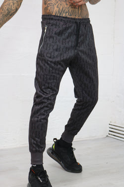 Black Echo Luxe Track Pants