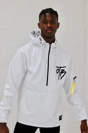 Ice White Fleece Lined Wind-runner