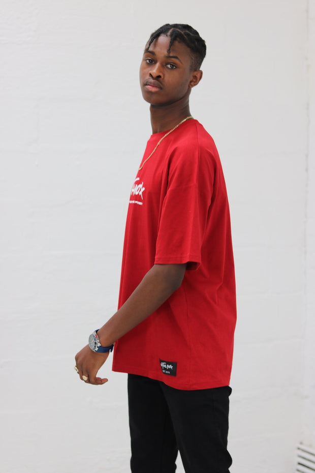 New Red Oversized Style Tee