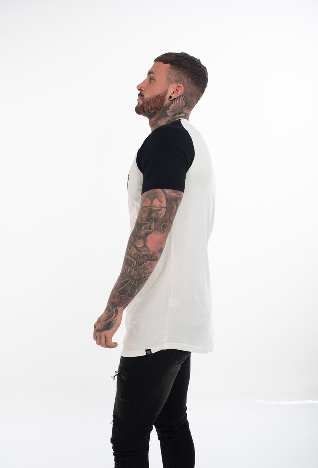 Off White Raglan Curved T - shirt