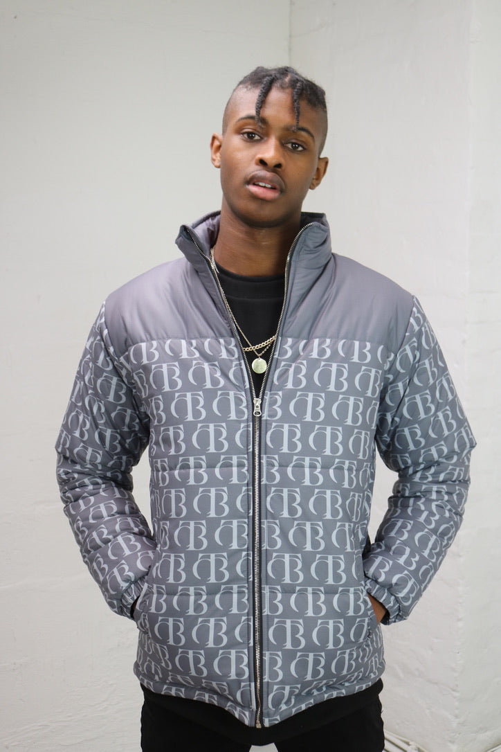 Grey Echo Puffer Jacket