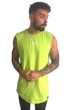 SLEEVELESS TEE - LIME GREEN