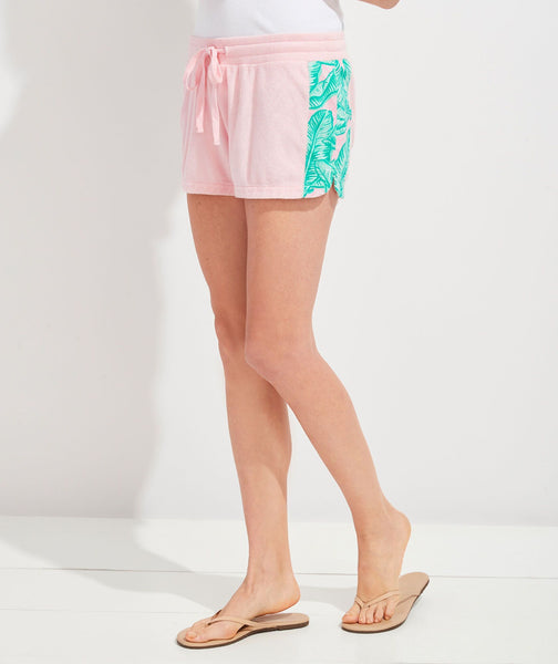 Banana Leaf Print Terry Shorts