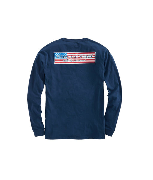 Long Sleeve Patriot Box Pocket Tee